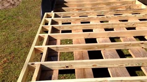 Camper Floor Plans by How To Build A Tiny House Episode 3 Subfloor Framing