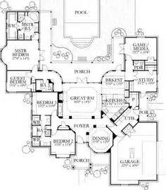 Bedroom Workout Plan 4 5 Bedroom One Story House Plan With Exercise Room