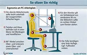 gesundes sitzen am schreibtisch pc arbeitspl 228 tze richtig und gesund sitzen sicherheit info