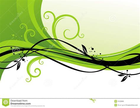 green plans green design with curls stock vector illustration of