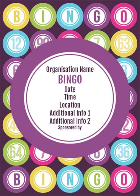 bingo flyer template free ptaprintshop co uk bingo flyer 1