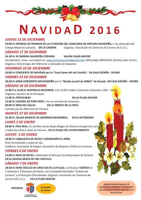 programa de navidad programa de navidad 2016 cervera de pisuerga