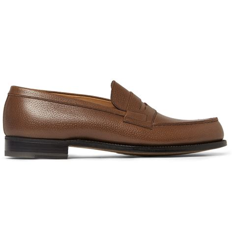 the loafers j m weston 180 the mocassin leather loafers in brown for
