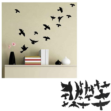 flying bird wall stickers removable flying pigeon bird vinyl wall sticker mural