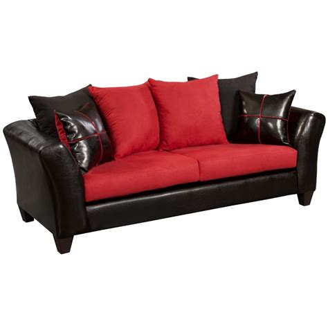 red faux leather sofa faux leather sofa in black and red rs 4170 04s gg