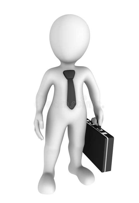Uomo D'affari 3D Personaggio Dei Cartoni Animati Con Lo