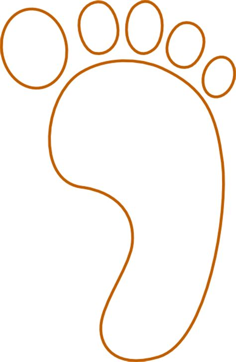 footprint template printable footprint clip at clker vector clip