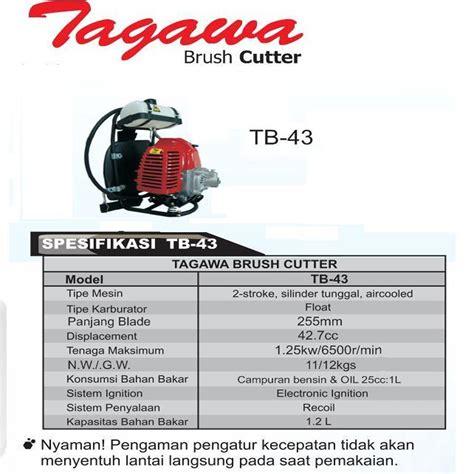 Mesin Potong Rumput Tagawa Harga Jual Tagawa Tb 43 Mesin Potong Rumput Gendong