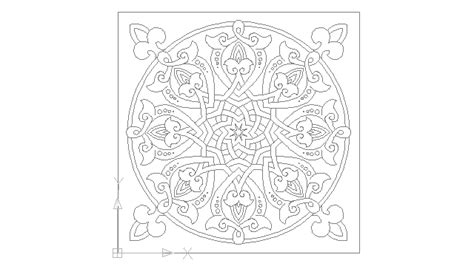 arabesque pattern dwg arabesque spain islamic art block in decorative elements