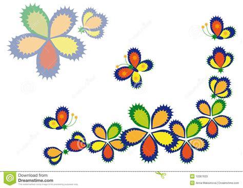 imagenes mariposas estilizadas flores y mariposas decorativas fotos de archivo imagen