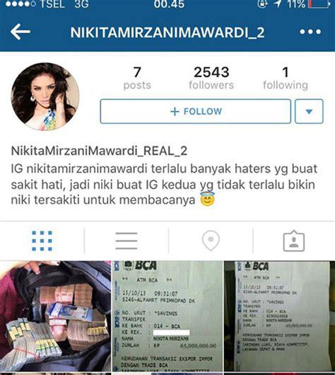 cara membuat akun instagram palsu akun instagram palsu nikita mirzani unggah bukti transfer