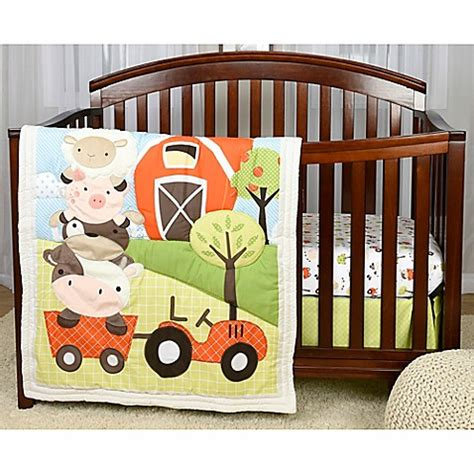 farm crib bedding baby s first by nemcor mcdonald s farm crib bedding collection buybuy baby