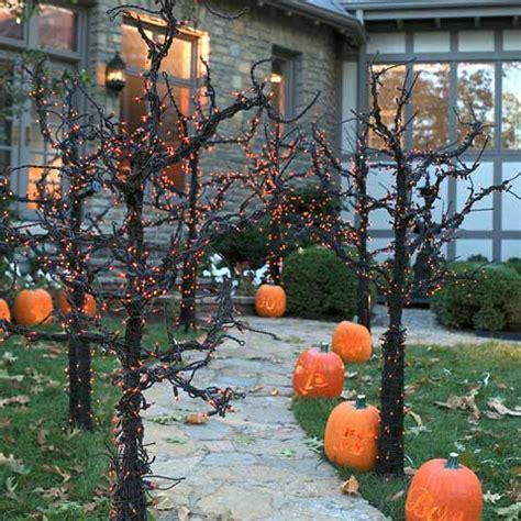 outdoor tree decorations 50 best diy halloween outdoor decorations for 2018