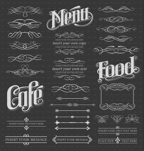 calligraphy chalkboard design elements by rtguest
