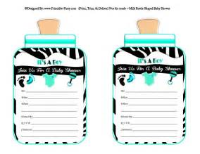 boy printable bottle baby shower invitations babies milk bottle shaped invites