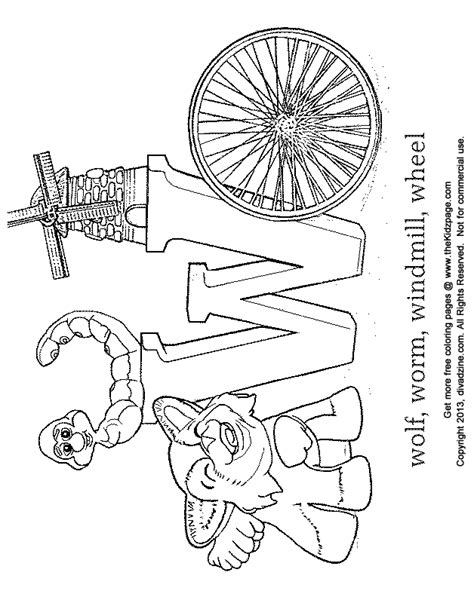 letter w coloring abc s free coloring pages for kids