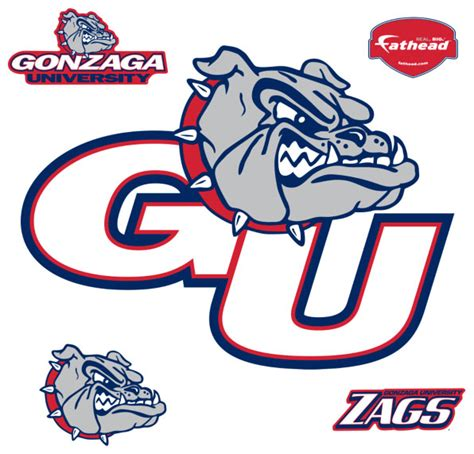 College Rugs Gonzaga Logo Fathead Ncaa Wall Graphic