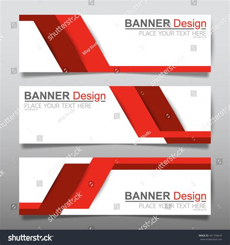 Layout Header | collection line red horizontal business banner stock