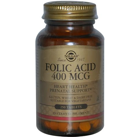 Mcg For Methhet Detox F Folate Supplements by Solgar Folic Acid 400 Mcg 250 Tablets Iherb
