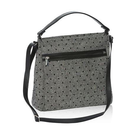 Tweed Crossbody Bag everything crossbody in black tweed dot for 58 to