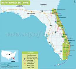map of east coast of florida cities map of florida east coast florida east coast map