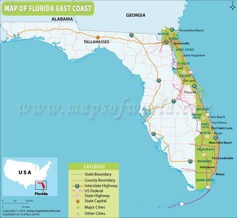 map of florida east coast map of florida east coast florida east coast map