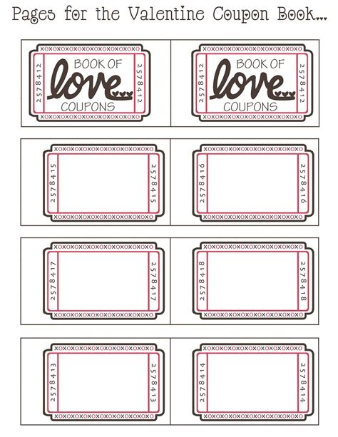 coupon book ideas for husband blank coupon templates