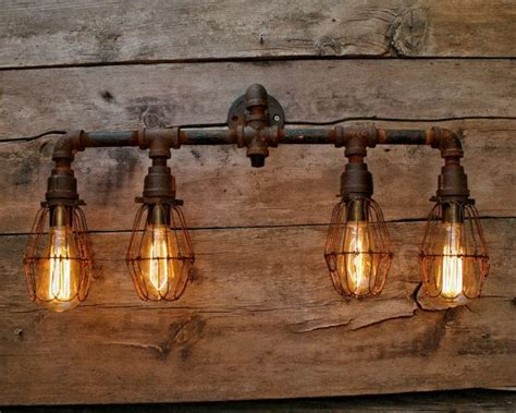 edison bathroom light fixtures rustic pipe bathroom vanity iron industrial light with