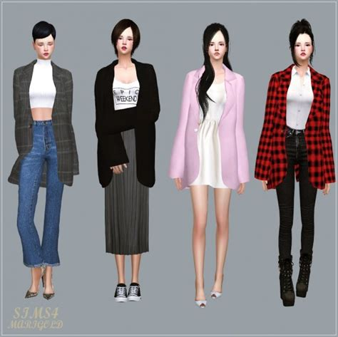 Stencils For Home Decor by Sims4 Marigold Mannish Jacket Acc Sims 4 Downloads