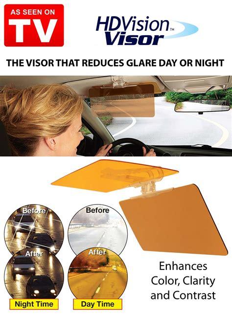 Hd Car Easy View Vision Visor Kaca Anti Silau hd vision visor reduce blinding glare day and the gadget