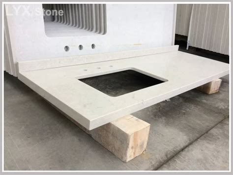 Synthetic Granite Countertops by China Synthetic White Quartz Vanity Top