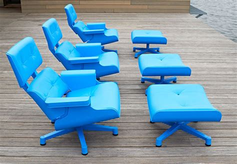 Molded Plastic Chairs Outdoor iconic eames lounge chair inspires mal outdoor chair gardens