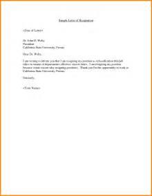 Employment Resignation Letter by Resignation Letter Sle Doc Ledger Paper