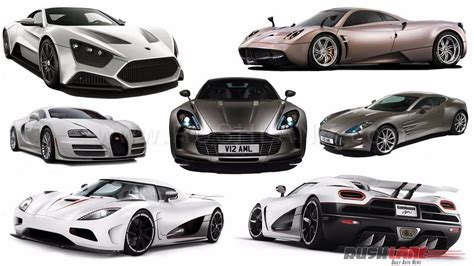 top 10 fastest cars in the world with top speed rushlane