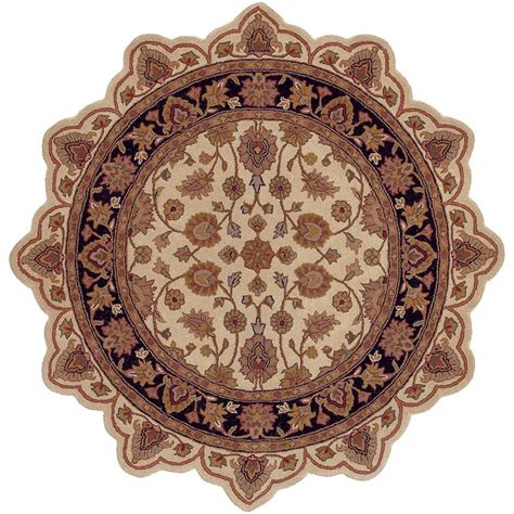 Shaped Area Rugs Lr Resources Traditional Ivory Black Shaped 5 Ft