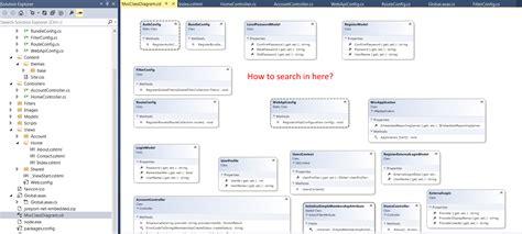 create class diagram visual studio visual studio search in class diagram stack overflow