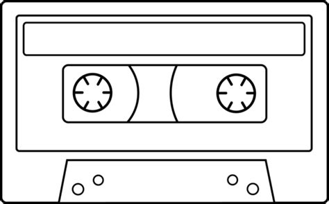 coloring book mixtape link blank cassette line free clip