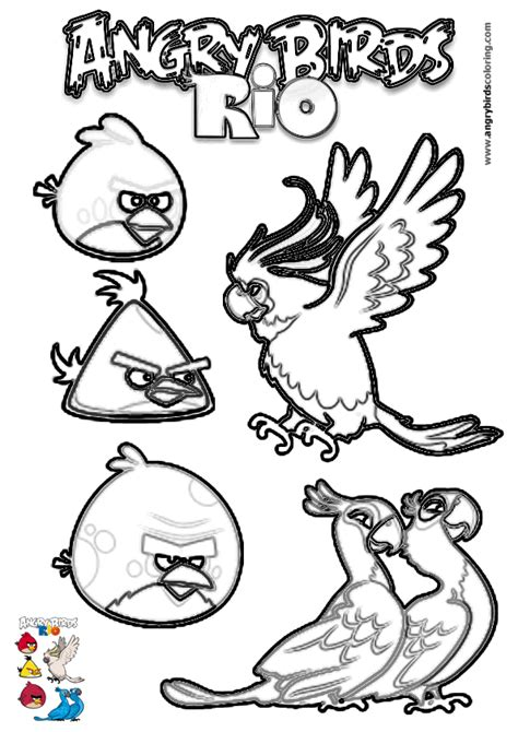 angry birds rio printable coloring pages angry birds rio coloring pages coloring99 com