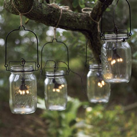 Glass Mason Jar Solar String Lights The Green Head Jar Solar Light