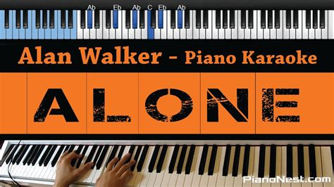alan walker karaoke alan walker alone lower key piano karaoke sing