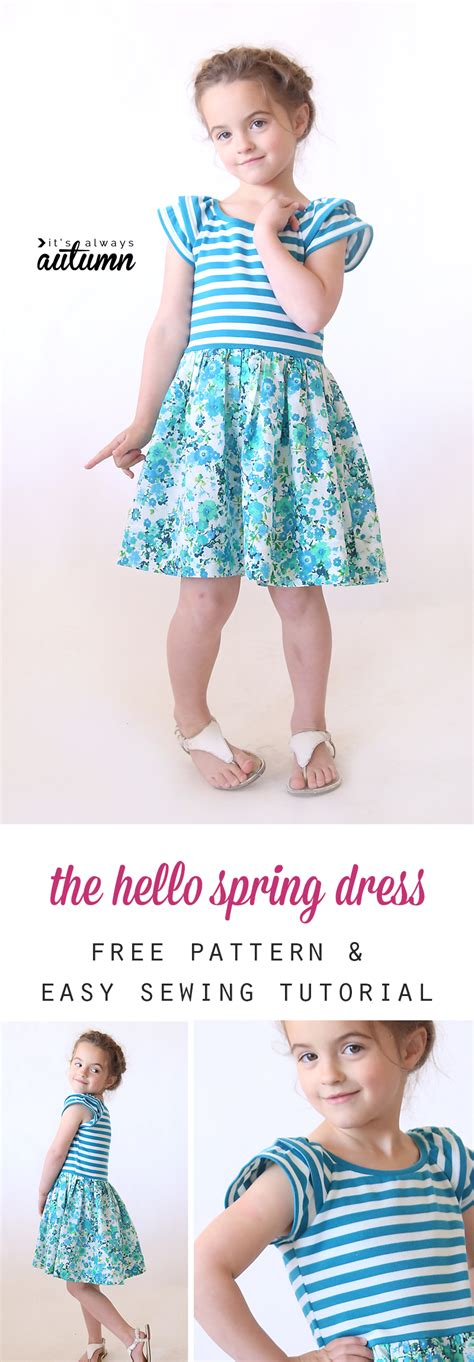 pattern dress free girl the quot hello spring quot girls dress free pattern in size 4 5