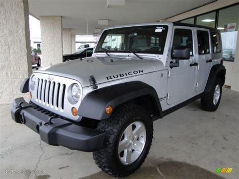 jeep rubicon silver 2008 bright silver metallic jeep wrangler unlimited