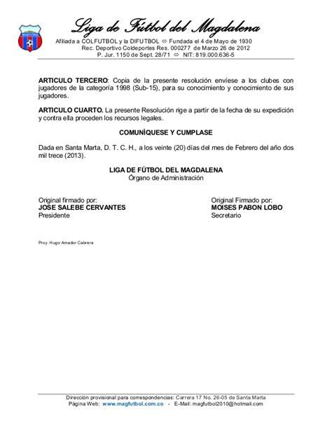 rige a partir de la convocatoria pdf resolucion 10 convocatoria prejuvenil sub15 2013 liga futbol del