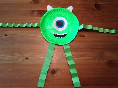 Disney Paper Crafts - mike wazowski paper plate craft monsters