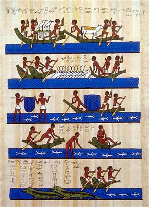 types of boats used in ancient egypt egyptian civilization daily life transportation