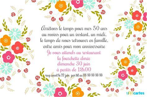 texte pour invitation anniversaire de mariage 50 ans dans