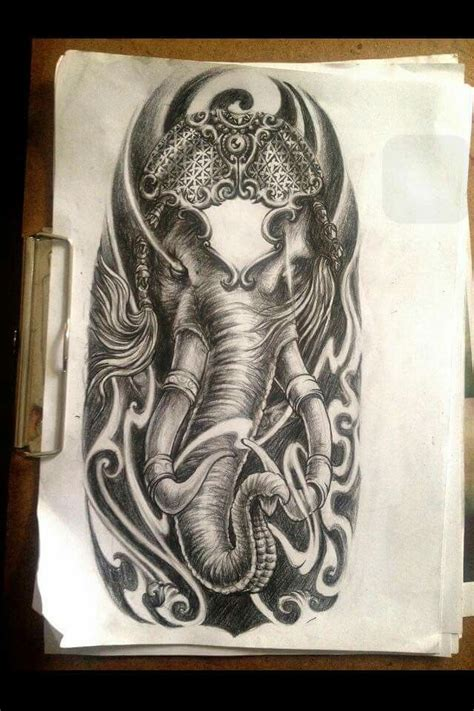 ganesh tattoo colorato hallanfu에 있는 raju gurung님의 핀 pinterest