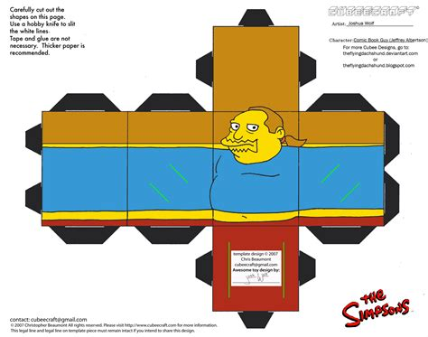 Simpsons Papercraft - simpsons2 comic book cubee by theflyingdachshund on