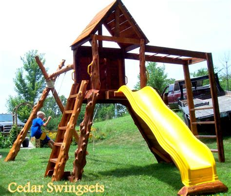 swing life style log in cedar log swing set favorite rustic furniture