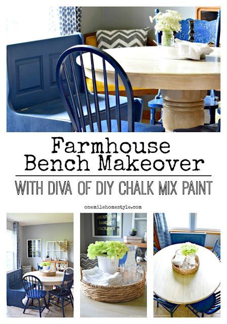 diy chalk paint mix farmhouse kitchen bench makeover with of diy s chalk